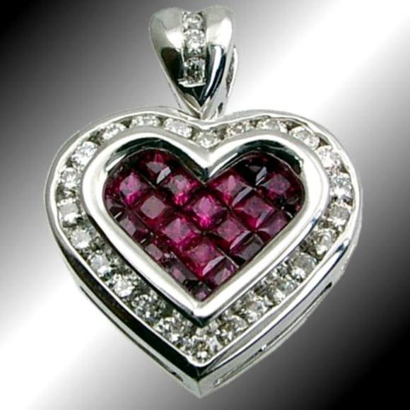 Iho jewelry diamond ruby heart pendant 51tdw 105ruby 18kt poshmark diamond ruby heart pendant 51tdw 105ruby 18kt aloadofball Image collections